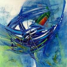 Bewegung in Blau